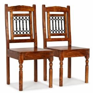 Καρέκλες Τραπεζαρίας Κλασικές 2 τεμ. Ξύλο/Φινίρισμα Sheesham
