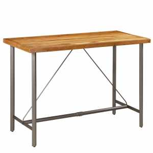 Τραπέζι Μπαρ 150x70x106 εκ. από Μασίφ Ανακυκλωμένο Ξύλο Teak