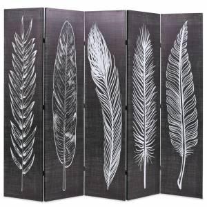 Διαχωριστικό Δωματίου Πτυσσόμενο Φτερά Ασπρόμαυρο 200 x 170 εκ.