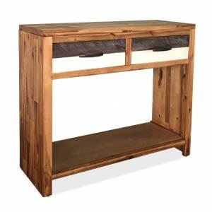 Τραπέζι Κονσόλα 86 x 30 x 75 εκ. από Μασίφ Ξύλο Ακακίας