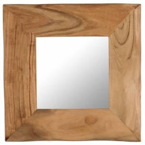 Καθρέφτης Μακιγιάζ 50 x 50 εκ. από Μασίφ Ξύλο Ακακίας