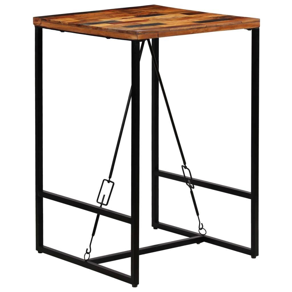 Τραπέζι Μπαρ 70 x 70 x 106 εκ. από Μασίφ Ανακυκλωμένο Ξύλο