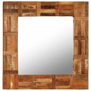 Καθρέφτης Τοίχου 60 x 60 εκ. από Μασίφ Ανακυκλωμένο Ξύλο