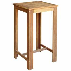Τραπέζι Μπαρ 60 x 60 x 105 εκ. από Μασίφ Ξύλο Ακακίας