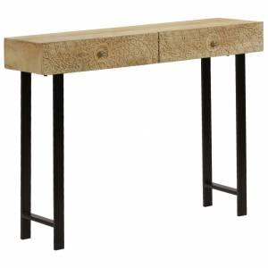 Τραπέζι Κονσόλα 102 x 30 x 79 εκ. από Μασίφ Ξύλο Μάνγκο