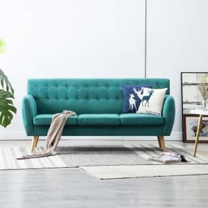 Καναπές Τριθέσιος Πράσινος 172 x 70 x 82 εκ. Υφασμάτινος