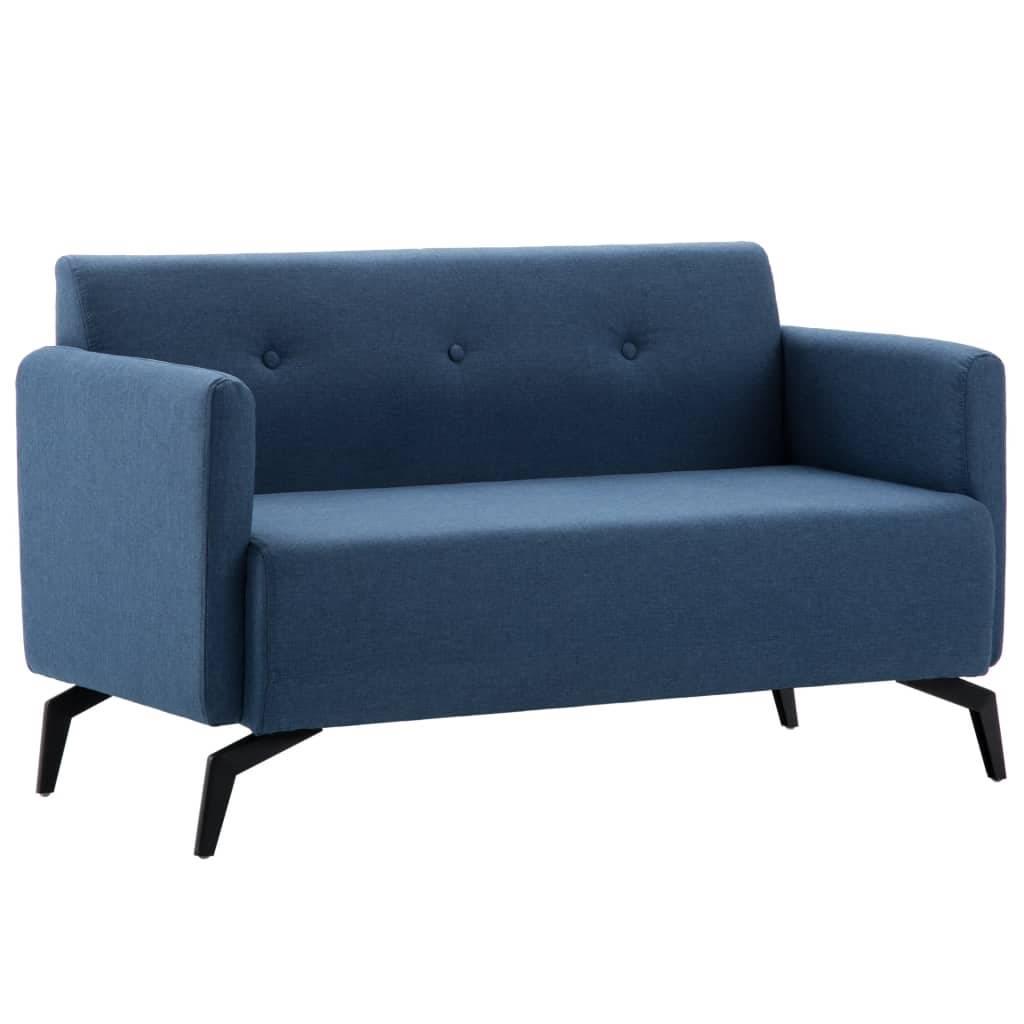 Καναπές Διθέσιος Μπλε 115 x 60 x 67 εκ. Υφασμάτινος