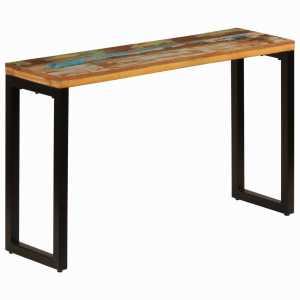 Τραπέζι Κονσόλα 120x35x76 εκ. Μασίφ Ανακυκλωμένο Ξύλο / Ατσάλι