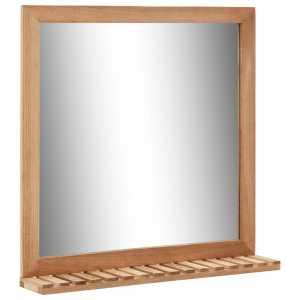 Καθρέφτης Μπάνιου 60 x 12 x 62 εκ. από Μασίφ Ξύλο Καρυδιάς