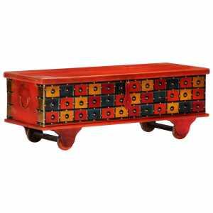 Μπαούλο Αποθήκευσης Κόκκινο 110x40x40 εκ. Μασίφ Ξύλο Ακακίας