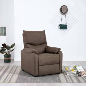 Πολυθρόνα Ανακλινόμενη Καφέ Υφασμάτινη
