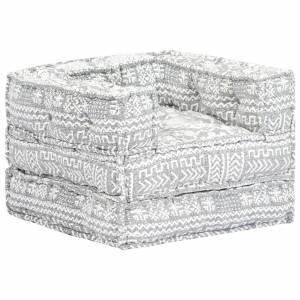 Πολυθρόνα - Κρεβάτι Αρθρωτή Γκρι Υφασμάτινη