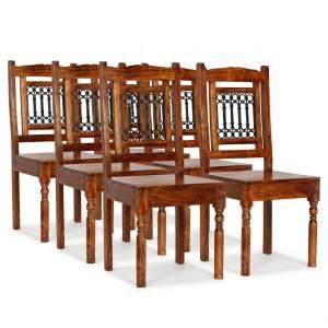 Καρέκλες Τραπεζαρίας Κλασικές 6 τεμ. Ξύλο/Φινίρισμα Sheesham