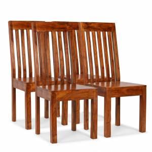 Καρέκλες Τραπεζαρίας Μοντέρνες 4 τεμ. Ξύλο / Φινίρισμα Sheesham