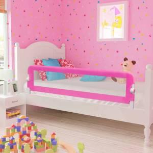 Μπάρα Κρεβατιού Προστατευτική για Παιδιά 2 τεμ. Ροζ 150x42 εκ.
