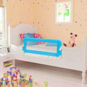 Μπάρα Κρεβατιού Προστατευτική για Παιδιά 2 τεμ. Μπλε 102x42 εκ.