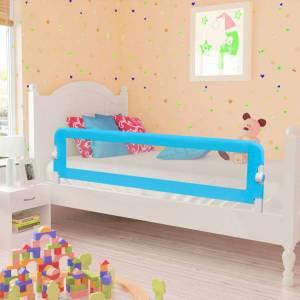Μπάρα Κρεβατιού Προστατευτική για Παιδιά 2 τεμ. Μπλε 150x42 εκ.