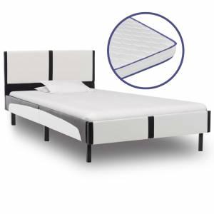 Κρεβάτι 90 x 200 εκ. από Δερματίνη με Στρώμα Αφρού Μνήμης