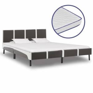 Κρεβάτι 180 x 200 εκ. από Δερματίνη με Στρώμα Αφρού Μνήμης