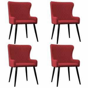 Καρέκλες Τραπεζαρίας 4 τεμ. Μπορντό Υφασμάτινες
