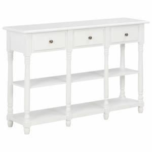 Τραπέζι Κονσόλα Λευκό 120 x 30 x 76 εκ. από MDF