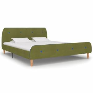 Πλαίσιο Κρεβατιού Πράσινο 180 x 200 εκ. Υφασμάτινο