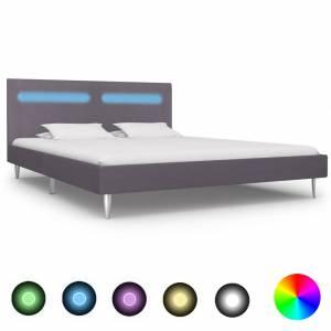 Πλαίσιο Κρεβατιού με LED Γκρι 160 x 200 εκ. Υφασμάτινο