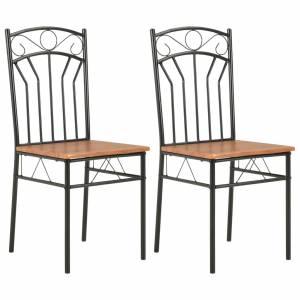 Καρέκλες Τραπεζαρίας 2 τεμ. Καφέ από MDF