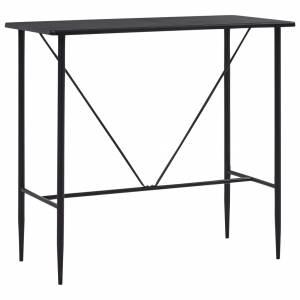 Τραπέζι Μπαρ Μαύρο 120 x 60 x 110 εκ. από MDF