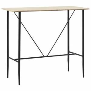 Τραπέζι Μπαρ Χρώμα Δρυός 120 x 60 x 110 εκ. από MDF
