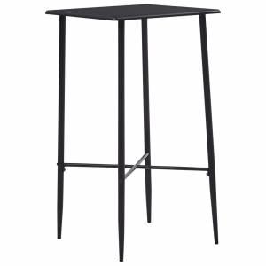 Τραπέζι Μπαρ Μαύρο 60 x 60 x 111 εκ. από MDF