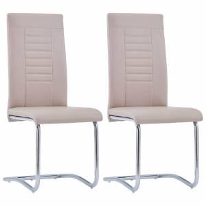 Καρέκλες Τραπεζαρίας «Πρόβολος» 2 τεμ. Καπουτσίνο Συνθετ. Δέρμα