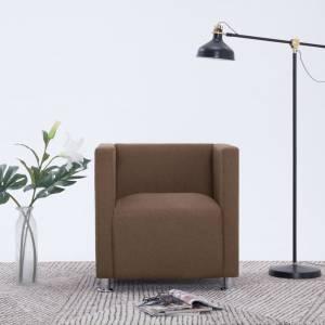 Πολυθρόνα Cube Καφέ Υφασμάτινη