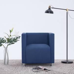Πολυθρόνα Cube Μπλε Υφασμάτινη