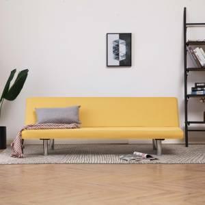 Καναπές - Κρεβάτι Κίτρινος από Πολυεστέρα