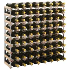 Ραφιέρα/Σταντ Κρασιών για 72 Φιάλες από Μασίφ Ξύλο Πεύκου