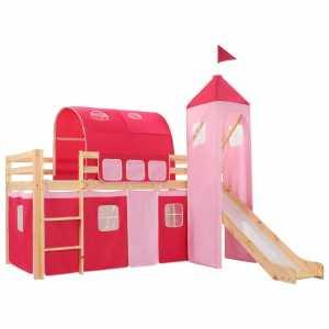Πλαίσιο Υπερυψ. Κρεβατιού με Τσουλήθρα & Σκάλα 208x230 εκ Πεύκο