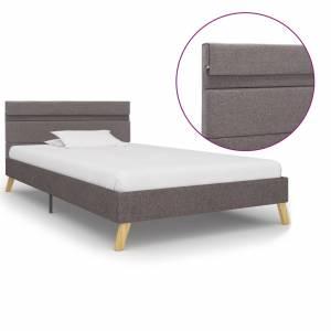 Πλαίσιο Κρεβατιού με LED Ανοιχτό Γκρι 100 x 200 εκ. Υφασμάτινο
