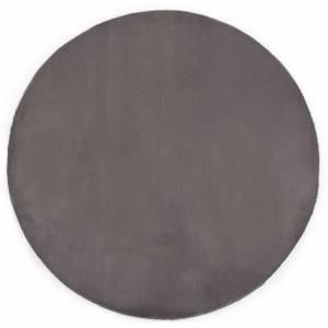 Χαλί Σκούρο Γκρι 80 εκ. από Συνθετική Γούνα Κουνελιού