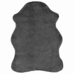 Χαλί Σκούρο Γκρι 65 x 95 εκ. από Συνθετική Γούνα Κουνελιού