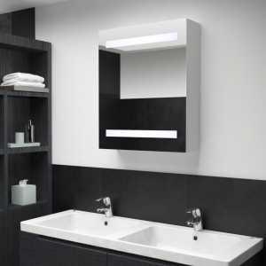 Ντουλάπι Μπάνιου με Καθρέφτη και Φωτισμό LED 50 x 14 x 60 εκ.
