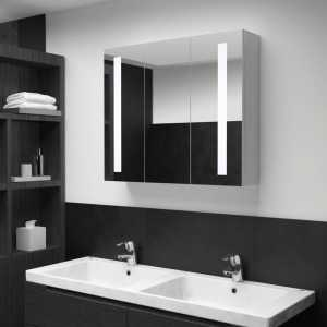 Ντουλάπι Μπάνιου με Καθρέφτη και Φωτισμό LED 89 x 14 x 62 εκ.
