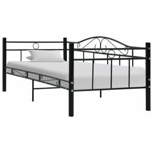 Πλαίσιο για Καναπέ - Κρεβάτι Μαύρο 90 x 200 εκ. Μεταλλικό
