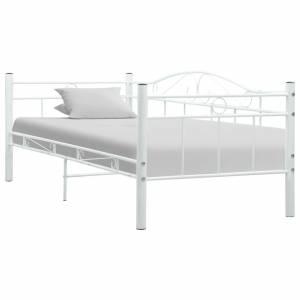 Πλαίσιο για Καναπέ - Κρεβάτι Λευκό 90 x 200 εκ. Μεταλλικό