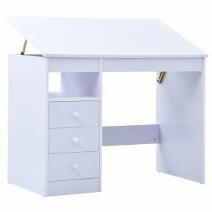 Γραφείο Παιδικό με Ανακλινόμενη Επιφάνεια Λευκό