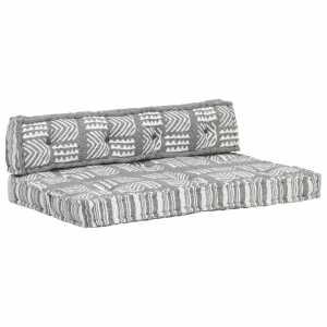 Μαξιλάρι για Καναπέ από Παλέτες Γκρι Patchwork Υφασμάτινο