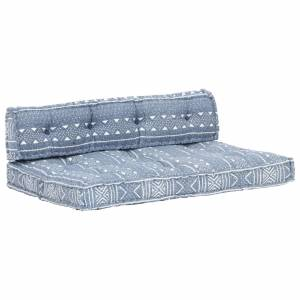 Μαξιλάρι για Καναπέ από Παλέτες Ίντιγκο Patchwork Υφασμάτινο