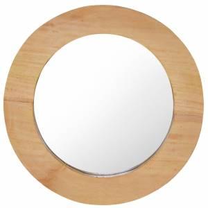 Καθρέφτης Τοίχου Στρογγυλός 40 εκ. από Ξύλο Teak