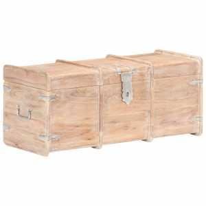 Μπαούλο Αποθήκευσης 90 x 40 x 40 εκ. από Μασίφ Ξύλο Ακακίας