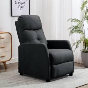 Πολυθρόνα Ανακλινόμενη Σκούρο Γκρι Υφασμάτινη